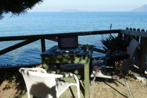 writing with stunniung seaview