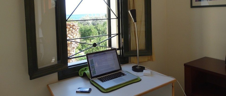 dreaming and working in room with a view