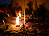 evening cosy in bedouin tent