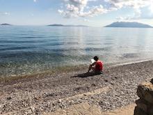 Schrijven op het strand