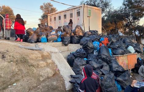 heaps of rubbish in Moria
